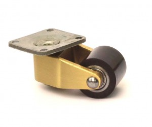 Upright low profile caster